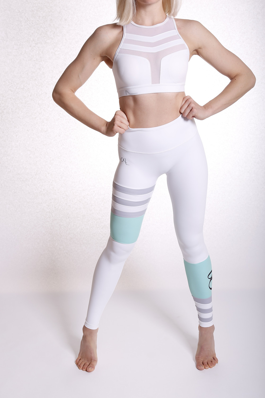 White Squat Proof Gym Leggings UK