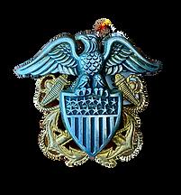 vintage usn officers cap device