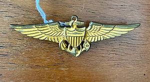 vintage usn flight wings