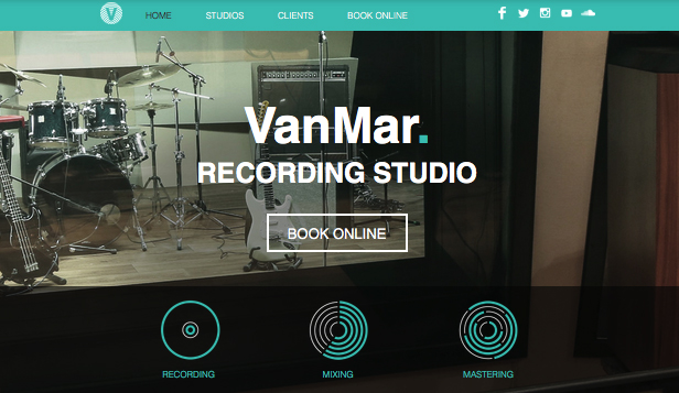 Music Industry website templates – Music Studio