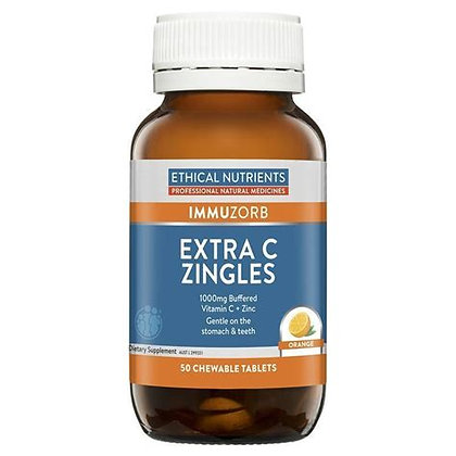 Ethical Nutrients Extra C Zingles 50 Chew Tablets