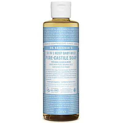 Dr Bronner's Castile Baby Unscented Soap 237ml