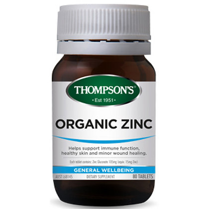 Thompsons Organic Zinc80 Tablets