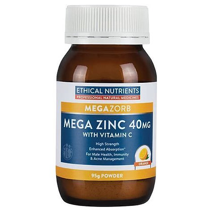 Ethical Nutrients Mega Zinc and Vitamin C 95g