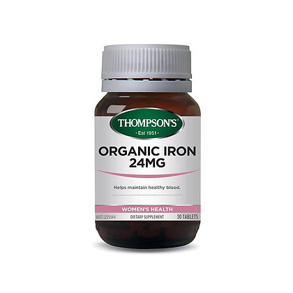 Thompsons Organic Iron 30 Tablets