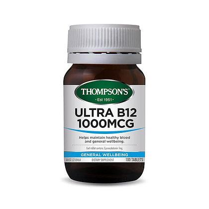 Thompsons Ultra B12 1000mcg 100 Tablets