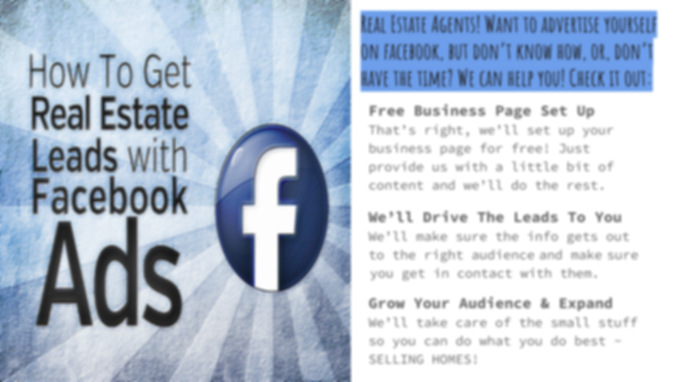 Realtors, we'll help you get more leads from your Facebook Business page