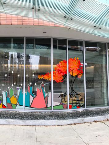 Window Mural for Hilton Hotel