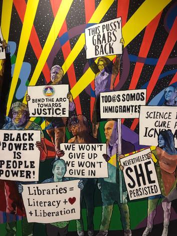 Diversity mural for University