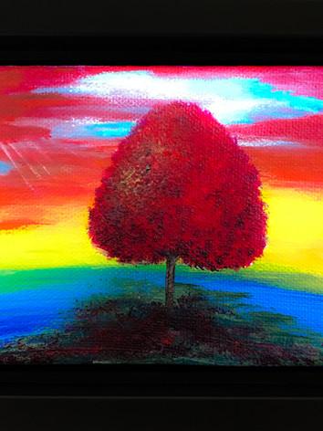 LGBTQ baby Tree painting (LGBT Flag)