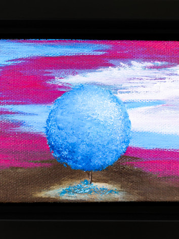 LGBTQ baby Tree painting (Trans Flag)