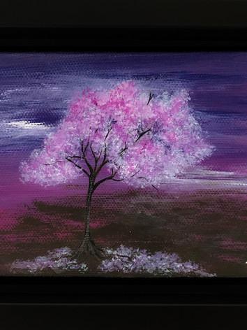LGBTQ baby Tree painting (Bi Flag)