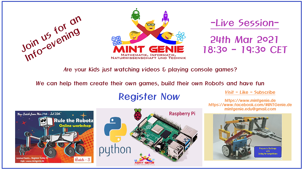 Info Session for new Robotics Courses