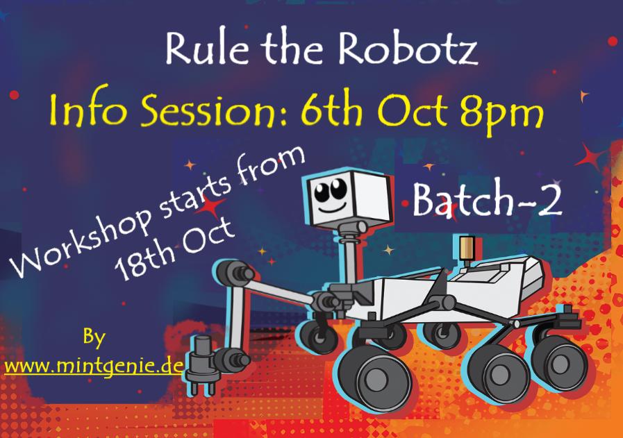 Info Session for Robotics Course