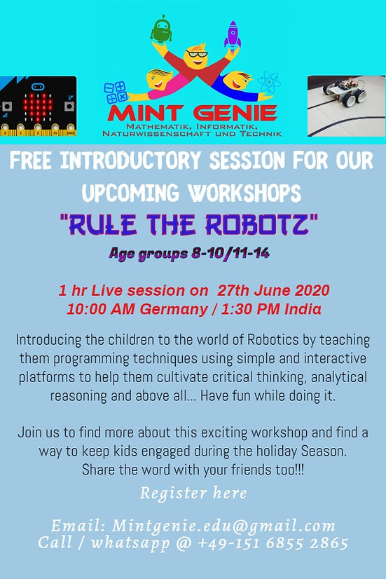 """Live Session: Intro to """"Rule the Robotz"""""""