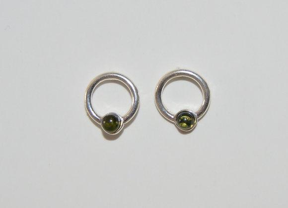 Boucles d'oreilles Halina - Ambre vert