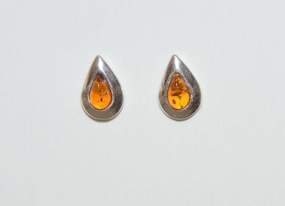 Boucles d'oreilles Klara - Ambre cognac