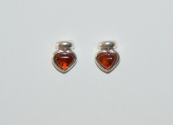 Boucles d'oreilles Renata - Ambre cognac