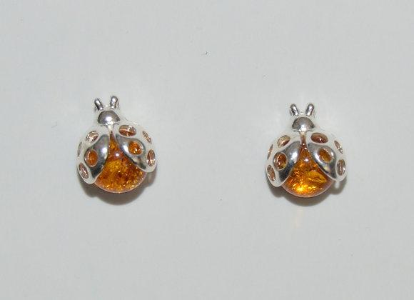 Boucles d'oreilles Lydia - Ambre cognac