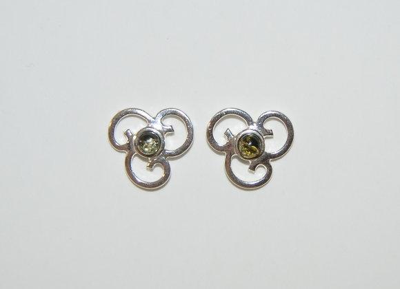 Boucles d'oreilles Sylwia - Ambre vert