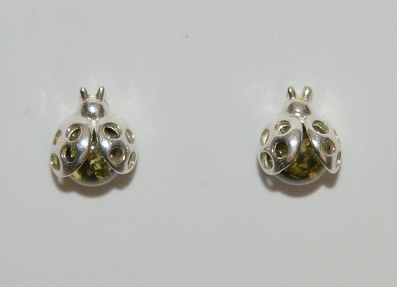 Boucles d'oreilles Lydia - Ambre vert