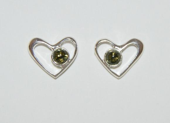 Boucles d'oreilles Jagoda - Ambre vert