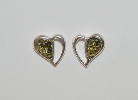 Boucles d'oreilles Marianna - Ambre vert