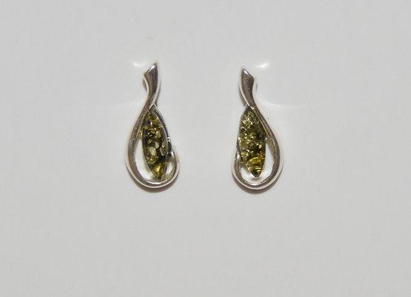Boucles d'oreilles Irmina - Ambre vert