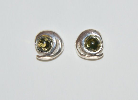 Boucles d'oreilles Daria - Ambre vert
