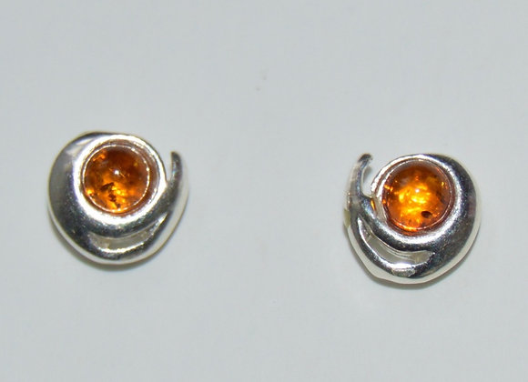 Boucles d'oreilles Daria - Ambre cognac