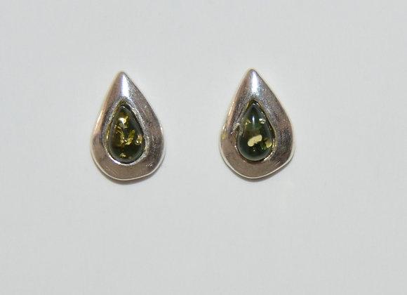 Boucles d'oreilles Klara - Ambre vert