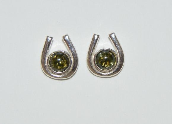 Boucles d'oreilles Martyna - Ambre vert