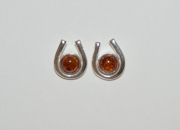 Boucles d'oreilles Martyna - Ambre cognac