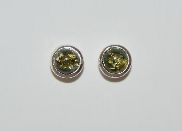 Boucles d'oreilles Maja - Ambre vert