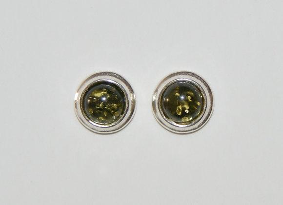 Boucles d'oreilles Joanna - Ambre vert