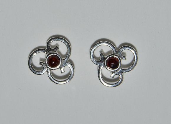 Boucles d'oreilles Sylwia - Ambre cognac