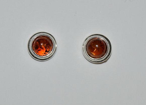 Boucles d'oreilles Joanna - Ambre cognac