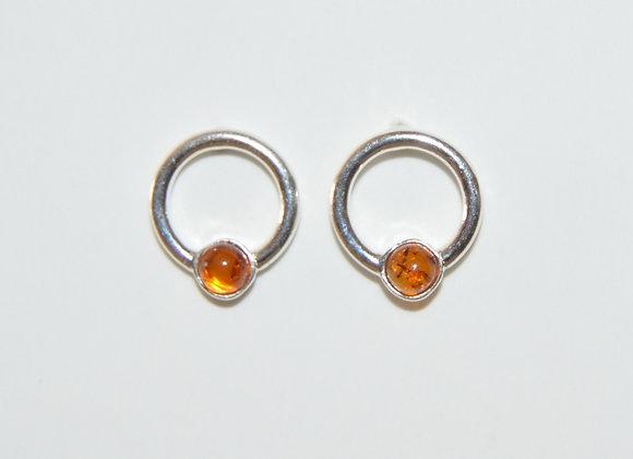 Boucles d'oreilles Halina - Ambre cognac