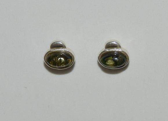 Boucles d'oreilles Wanda - Ambre vert