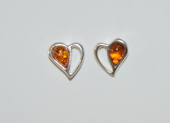 Boucles d'oreilles Marianna - Ambre cognac
