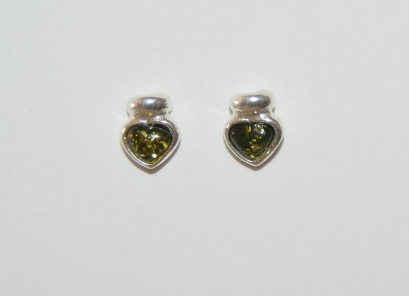 Boucles d'oreilles Renata - Ambre vert