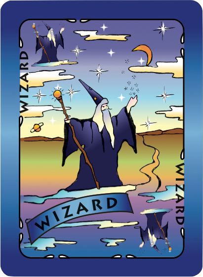 Wizard Card Poster