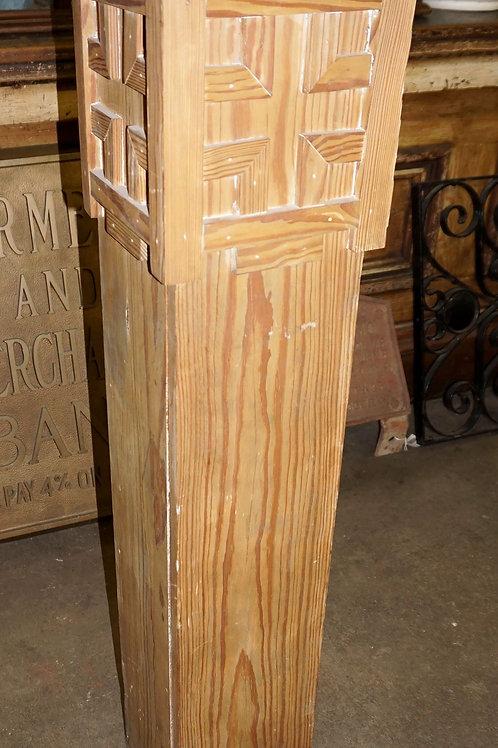 Decorative Pine Newel Post