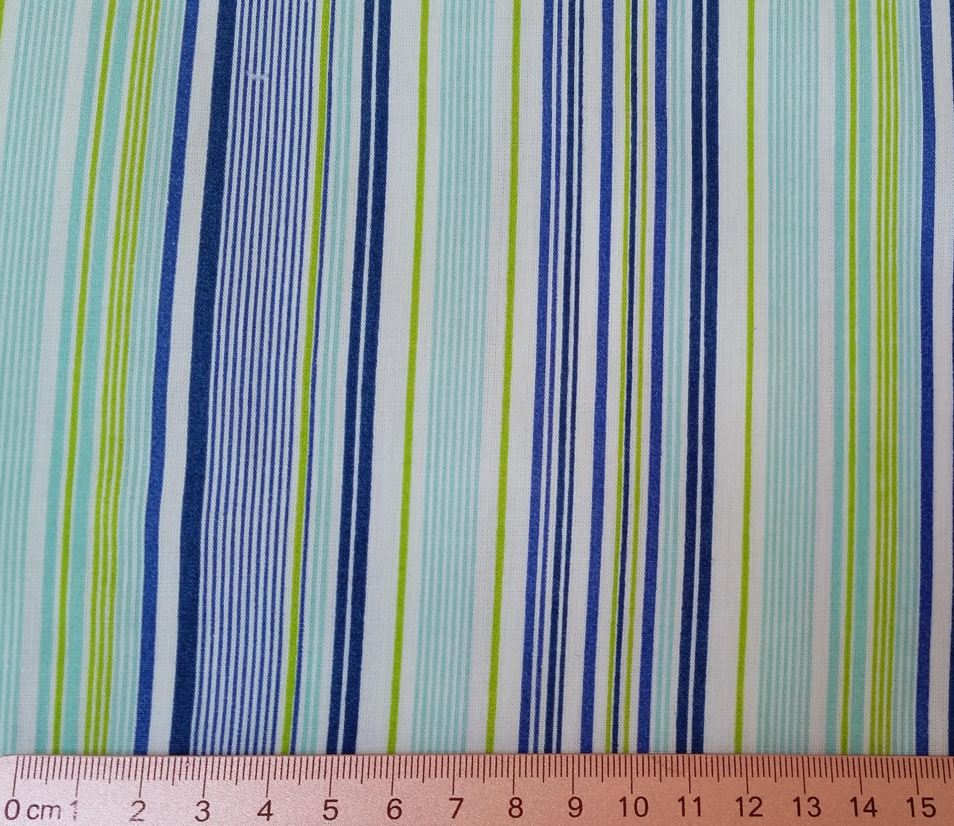 Listras azuis/verdes - tons variados
