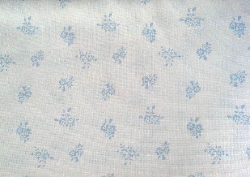 Blend com linho - floral azul