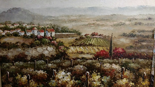 """20""""x""""24 Landscape winery Oil Painting"""