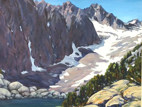 "30""x24"" Landscape Snow Mountain by George Zhou"