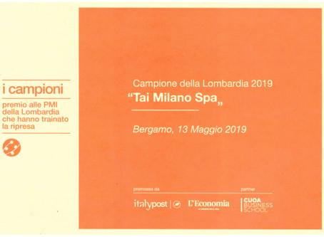 """Tai Milano è """"Campione della Lombardia 2019"""""""