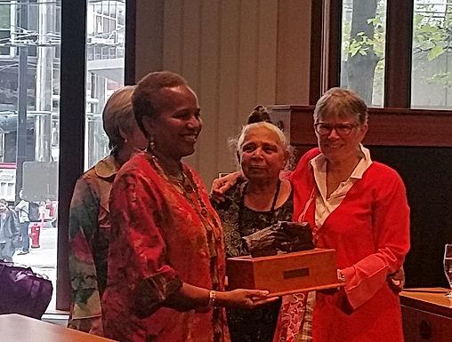 Congratulations Ellen on Receiving the Rosemary Brown Award