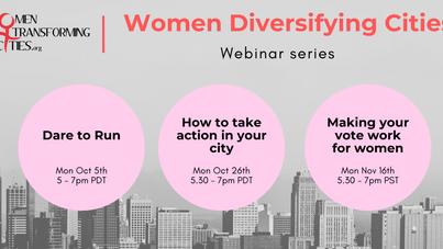 Women Diversifying Cities: Webinar Series